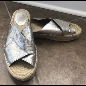 Free People Tuscan Slip On Sandals Espadrille 38